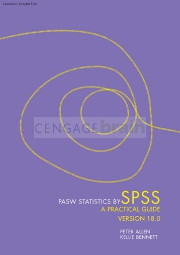PASW Statistics by SPSS: A Practical Guide: Version ... - Booktopia