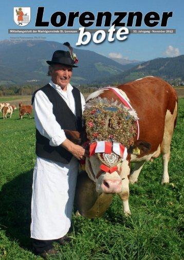 Lorenzner Bote - Ausgabe November 2012 (5,10 MB