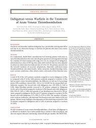 Dabigatran versus Warfarin in the Treatment of Acute Venous ...