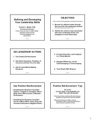 Defining and Developing Your Leadership Skills