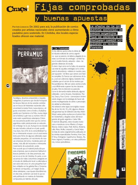 comic impresos:comic impresos.qxd.qxd - Revista La Central