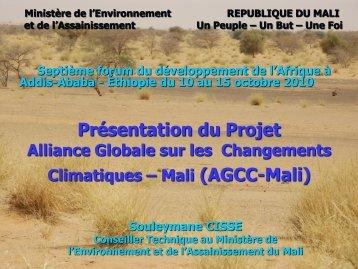 Présentation du projet de l'AMCC au Mali - Global Climate Change ...