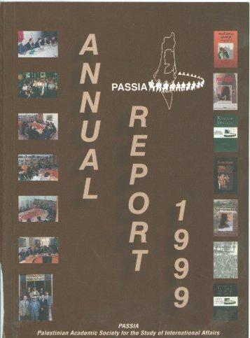 PASSIA Annual Report 1999 - PASSIA Online Store