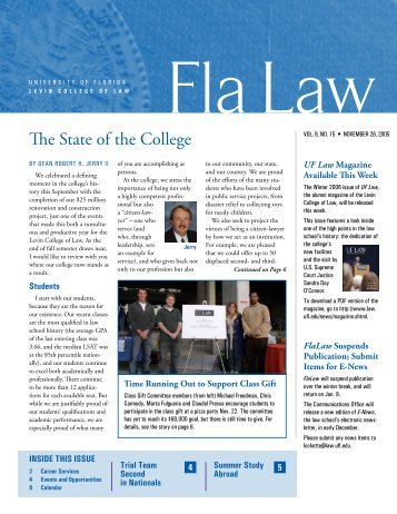 Fla Law - Levin College of Law - University of Florida