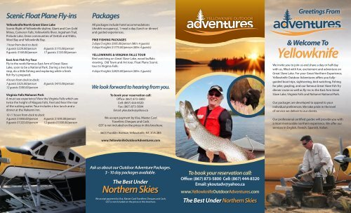 6828-014 YKOA_brochure.indd - Yellowknife Outdoor Adventures