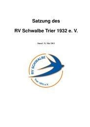 Satzung des RV Schwalbe Trier 1932 e. V.