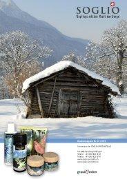 Kundenmagazin Nr. 47 (PDF) - Soglio Hautpflege-Produkte