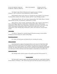 Board Meeting 2/19/07 - Stokes County Schools
