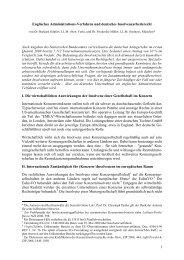 1 Englisches Administrations-Verfahren und deutsches ...
