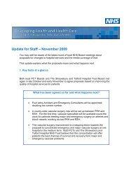 Update for Staff – November 2009 - Royal Shrewsbury Hospitals ...