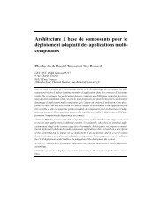 Architecture à base de composants pour le déploiement adaptatif ...
