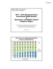 Maryland School Assessment Results - Washington County, MD ...