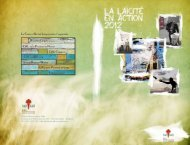 Le Centre d'Action Laique fŽd re 7 rŽgionales Bruxelles Laique CAL ...