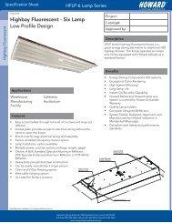 6 Lamp Spec Sheet - Howard Industries, Inc.