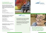 Beratungsstellen für Menschen mit Demenz und ihre Angehörigen