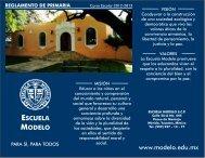 Reglamento de primaria 2012.cdr - Escuela Modelo