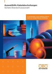 PDF Datei: Broschüre / OBO / Prospekt Auswahlhilfe zur Schottung