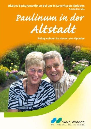 Aktives Seniorenwohnen bei uns in Leverkusen ... - Sahle Wohnen