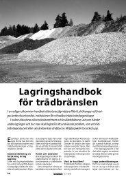 Lagringshandbok för trädbränslen - Novator