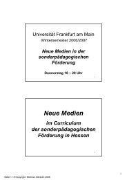 16.11.06 - Neue Medien in der sonderpädagogischen Förderung