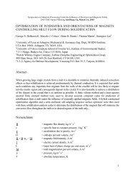 OPTIMIZATION OF INTENSITIES AND ORIENTATIONS ... - MAIDROC