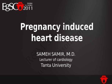 Pregnancy induced heart disease - cardioegypt2011