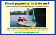 Direct payments: Is it for me? - Niace