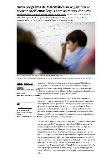 reações - Associação de Professores de Matemática