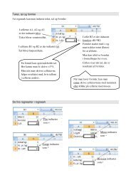 Tekst, tal og formler I et regneark kan man indtaste ... - VUC Aarhus