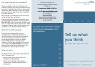Tell us what you think - Devon Partnership NHS Trust