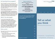 Tell us what you think - Devon Partnership NHS Trust