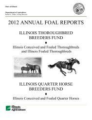 2012 ANNUAL FOAL REPORTS - Illinois Department of Agriculture