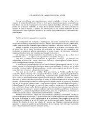 I LOS ORIGENES DE LA OPRESION DE LA MUJER Uno de los ...