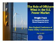 The Role of Offshore Wind in the U. S. Power Market - New England ...