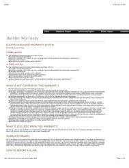 Builder Warranty - Bolick Distributors