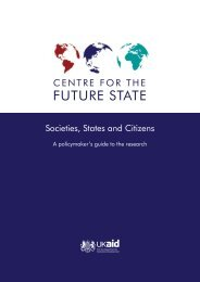 Societies, States and Citizens: A Policymakers Guide to the Research