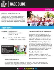 Download Your Buffalo Pre-Race Docs Here! - The Color Run
