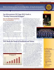 Download Newsletter as PDF - Western Governors University
