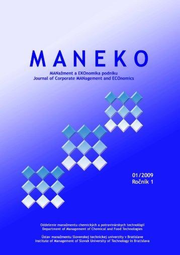 Číslo 1/2009 - Maneko