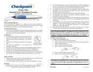 Instructions for Use - Checkpoint Surgical