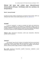 Efecto del sexo del cíclido joya - ULPGC - Universidad de Las ...
