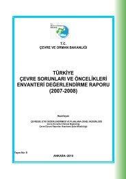 türkiye çevre sorunları ve öncelikleri envanteri değerlendirme raporu