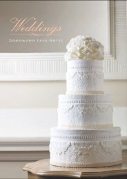 Download the Wedding Factsheet here. - Goodwood Park Hotel