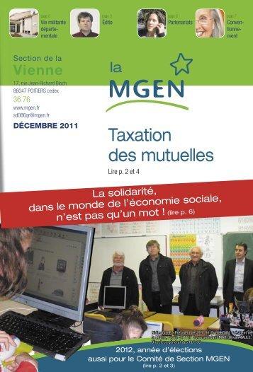 Taxation des mutuelles - MGEN