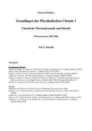 Grundlagen der Physikalischen Chemie 1