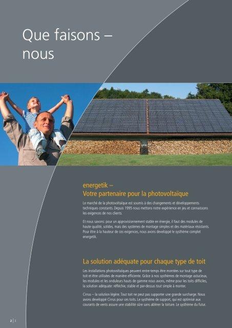 Solutions photovoltaïques intelligentes. - Energetik Solartechnologie ...
