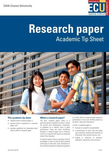 Research paper - Edith Cowan University