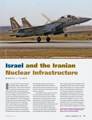 Israel and the Iranian Nuclear Infrastructure