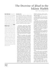 32 The Doctrine of Jihad in the Islamic Hadith