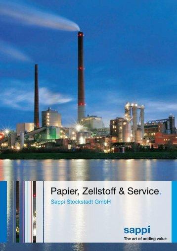 Papier, Zellstoff & Service. - Sappi